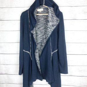 Max Studio | Drape Front Hooded Cardigan Sweater